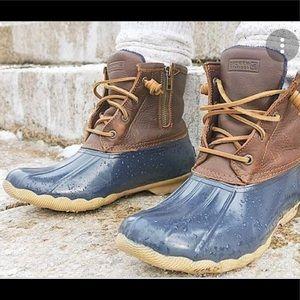 Sperry Saltwater Duck Boots Brown/Blue